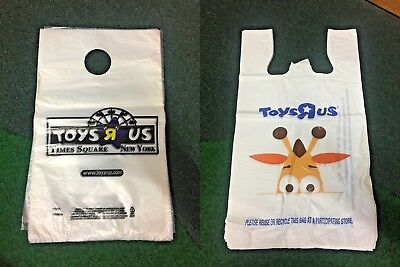 Brand New Unused (100) Pcs Toys 'r' Us Shopping Bag - Geoffrey & Times Square