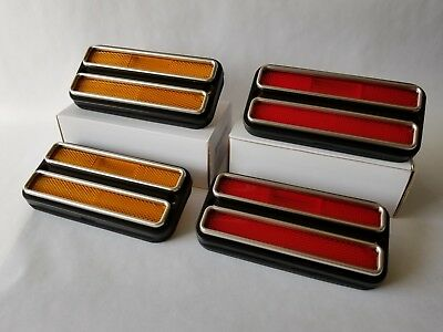 1968-72 Chevy GMC Pickup Truck Suburban - Front & Rear Side Marker Light 4pc Set