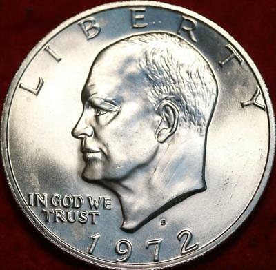 Uncirculated 1972-S San Francisco Mint 40% Silver Eisenhower Dollar