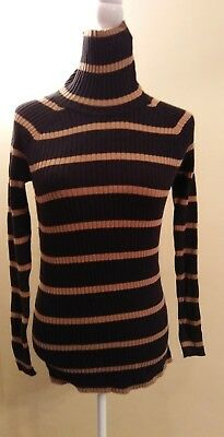 Motherhood Maternity Medium Striped Black Gold! GUC