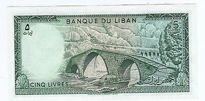 Selection of Currency from Lebanon, 5 Livres