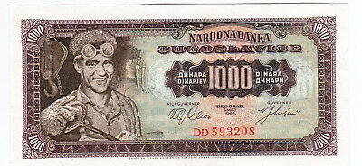 Selection of Currency from Yugoslavia, 1000 Dinera