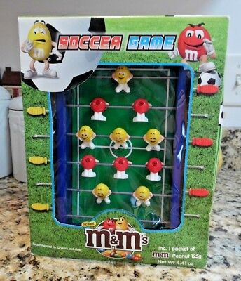 Collectible M&M's Red v Yellow Miniature Soccer/Foosball Table In Box