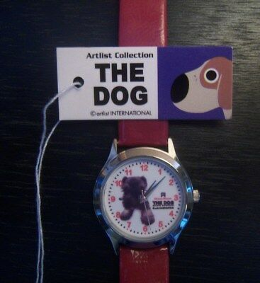 The Dog *Artlist Collection* Mini Schnauzer Watch w/ Leather Band- NEW IN BOX
