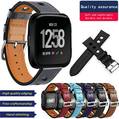 Leather Bands Replacement Accessories Wristband Straps For Fitbit Versa