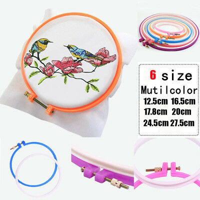 1pc Cross Adjustable Sewing Tool Plastic Embroidery Cross Stitch Hoop Ring Frame