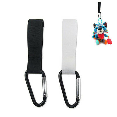 2 Pc Baby Pram Hanger Nylon Pushchair Buckle Stroller Hooks Not Easily Broken