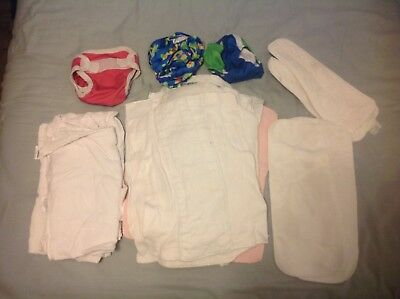 Lot of 15 misc cloth diapers and inserts