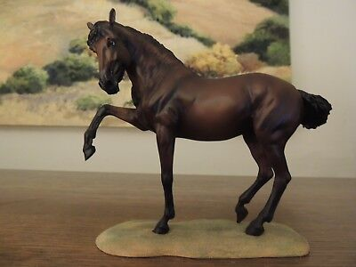 Breyer Breeds of the World dark bay Andalusian, mint, with box, 2012-14
