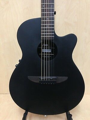 "38"" Haze 836 Matt Ebonized Electric-Acoustic/Classical Guitar Pack,EQ,Round-Back"