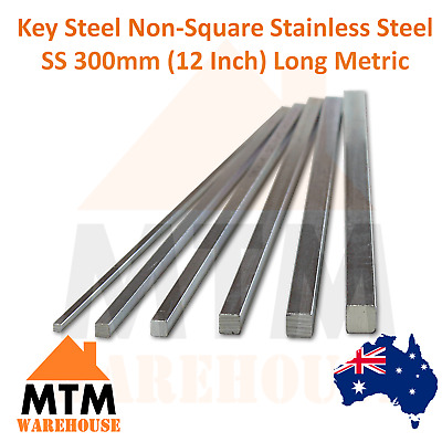 Key Steel Non-Square Stainless Steel SS 300mm (12 Inch) Long Metric