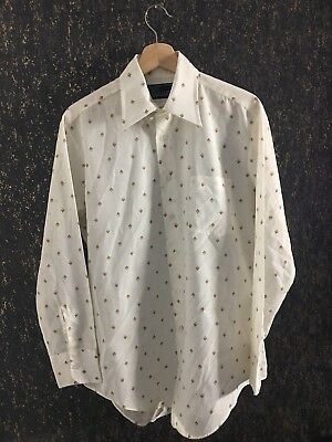 Mens Vintage Sears Perma Prest Button Down Long Sleeve