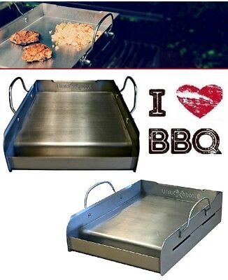 Flat Top Griddle 14'' Restaurant Professional Stainless Steel Commercial Grill