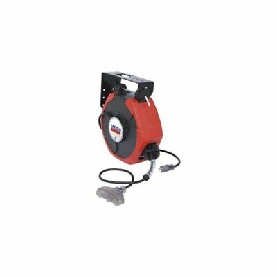Lincoln Lubricationc 91029 50' Medium Duty Extension Cord Reel With Lighted