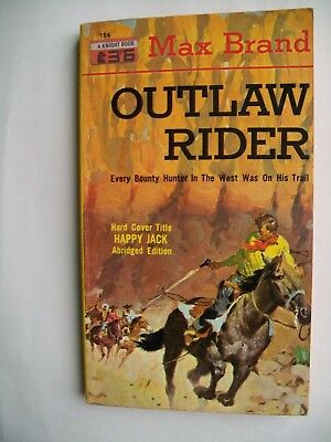 "Max Brand ""Outlaw Rider"" western Pb. 1st. 1960"