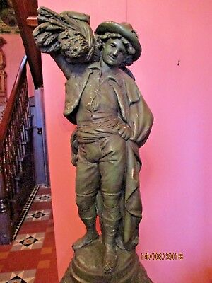 Statue Of 18Th Century Farm Lad  - A Great  Feature  In Your House