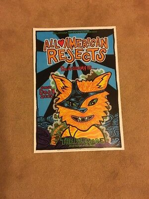 All American Rejects Fillmore Concert Poster F739 The Academy Is... Mint 2005
