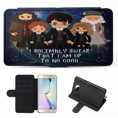 Personalised Harry Potter Samsung Galaxy Phone Case Flip Cover Wizard Witch ET08