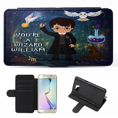 Personalised Harry Potter Samsung Galaxy Phone Case Flip Cover Wizard Witch ET09