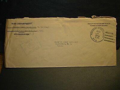 APO 813 BELFAST, NORTHERN IRELAND 1942 Censored Army Cover 103rd CA Bn AA (Sep)