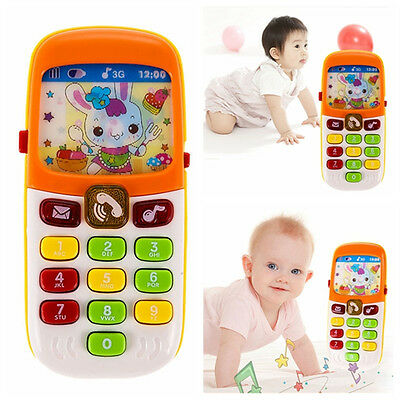 Baby Kid Musical Mobile Phone for Toddler Sound Hearing Educate Learning Toy hc
