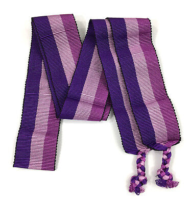 "Guatemala Mayan Faja Belt Xela Huipil Purple Pink 88x3"" inches  NEW"