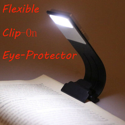 Portable Flexible LED Reading Light Rechargeable Clip-on Book Desk Beside Lamp
