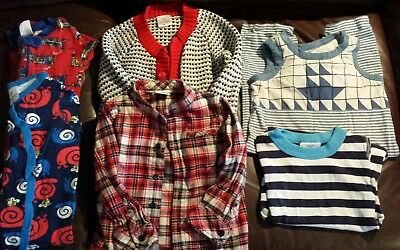 Hanna Andersson Boys Lot Pajamas, Flannel Shirt, Sweater Size 90 (3T)
