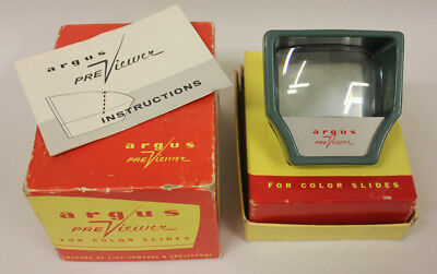 Argus Slide Pre-Viewer with Box & Instructions