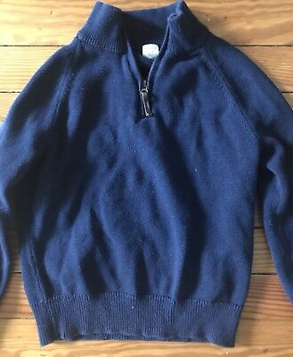 Boys Crewcuts Navy Cotton Cashmere Sweater Size 6/7