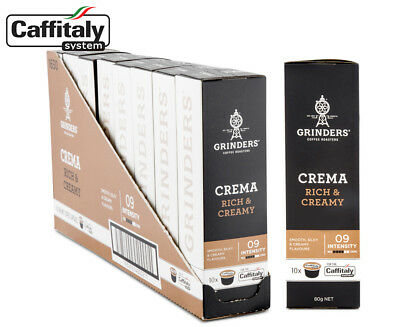 8 x Grinders Crema Rich & Creamy Caffitaly Coffee Capsules 10pk