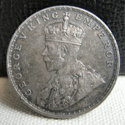 1918 One Rupee India - Old British Silver Coin - Nice details