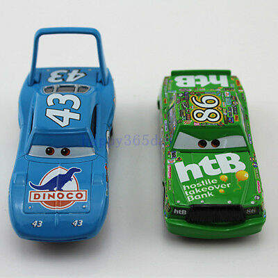 2Pack Funny Cars Diecast NO.43The King&NO.86 Chick Hicks Metal 1:55 Toy