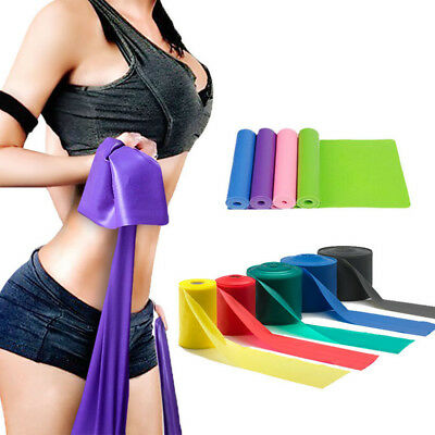 Elastic Rubber Resistance Bands Fitness Workout Training Band For Yoga Pilates