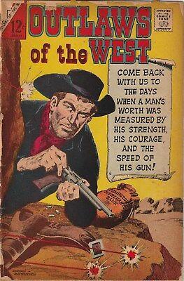 Outlaws Of The West Number 62. Charlton Comics 1967. 12 Cent Issue. Western