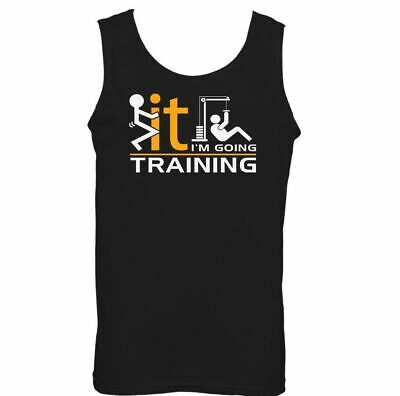 Gym Vest Training Mens Funny Weight MMA Bodybuilding Top Motivation I'm Going