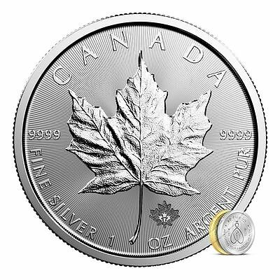 2017 Silver Maple Leaf | 1 oz Silver Coin Direct From Canadian Mint Tube