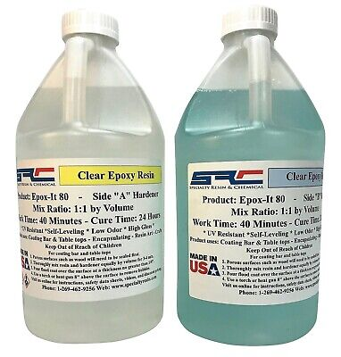Epoxy Resin Crystal Clear Casting System For Coating Wood Table Tops 1 Gallon