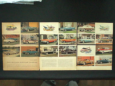 1957 4-page Automobile Advertisment - GM - STUDEBAKER - FORD - CHRYLSER - AMERIC
