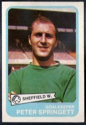 VIC MOBLEY SHEFFIELD WEDNESDAY A/&BC-FOOTBALL 1969 GREEN BACK FACTS-#020