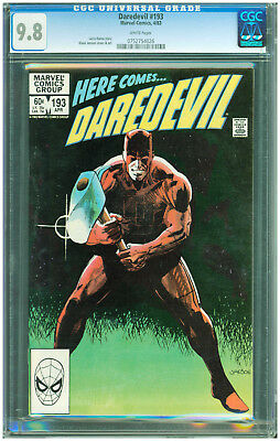 Daredevil #193 CGC 9.8 White Pages Netflix