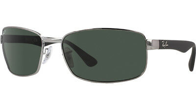 Ray Ban RB3478 004 58 Gunmetal Frame Green Polarized G-15 60mm Lens Sunglasses