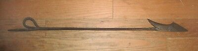 Authentic 19th C Antique Iron Whaling Harpoon for Darting Gun, perfect condition