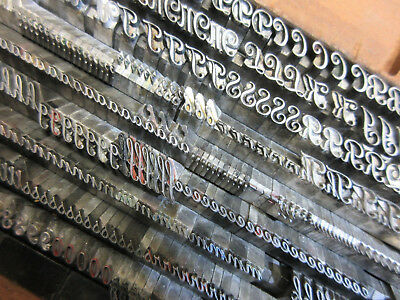 Letterpress Lead Type 24 Pt. Typo Slope ATF # 402    J19