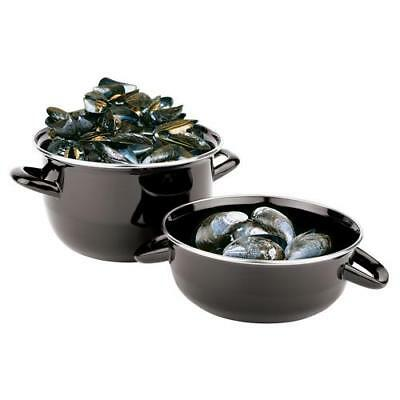 "World Cuisine - 42414-20 - 9 1/2"" Enamel Steel Mussel Pot Set"