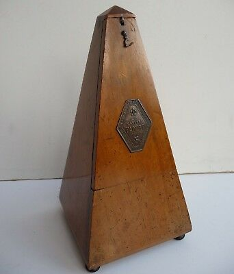 Old Antique 'Maelzel Paquet, France' Wooden wind-up Metronome