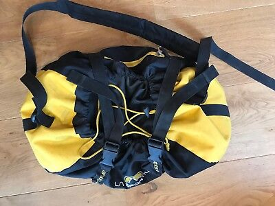 La Sportiva rope bag, yellow and black