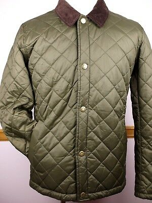 "NWOT Mens BARBOUR ""Holme"" Quilted Olive Green Lightweight Jacket - Size L"