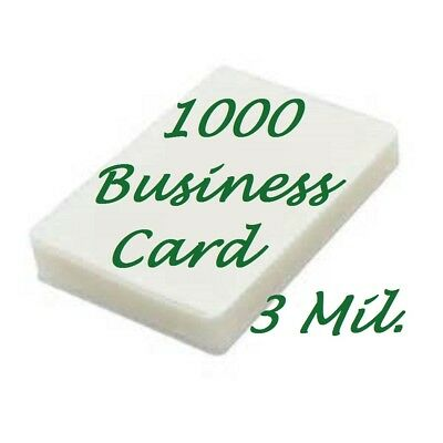 1000 Business Card 3 Mil Laminating Pouches Laminator Sheets 2-1/4 x 3-3/4