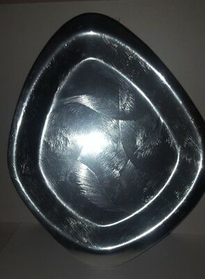 DON SHEIL BRUSHED METAL HORS D'OEUVRES PLATE 33 X 26cm